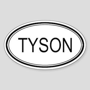 Tyson Oval Design Oval Sticker