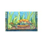 Tie Dye Turtle Watercolor 3'x5' Area Rug