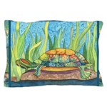 Tie Dye Turtle Watercolor Pillow Case