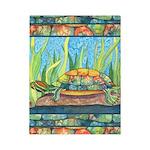 Tie Dye Turtle Watercolor Twin Duvet Cover