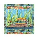 Tie Dye Turtle Watercolor Queen Duvet Cover
