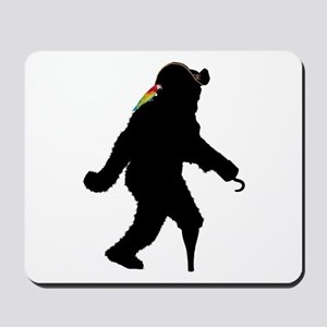 Sasquatch Pirate Captain Mousepad