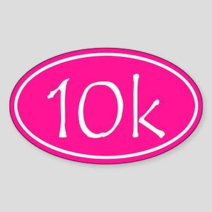 Pink 10k Oval Sticker
