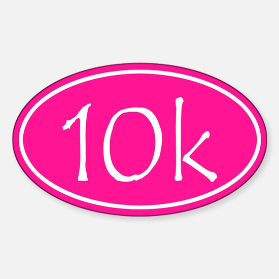 Pink 10k Oval Decal