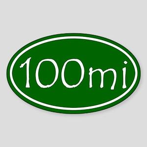 Green 100 mi Oval Sticker