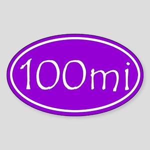 Purple 100 mi Oval Sticker