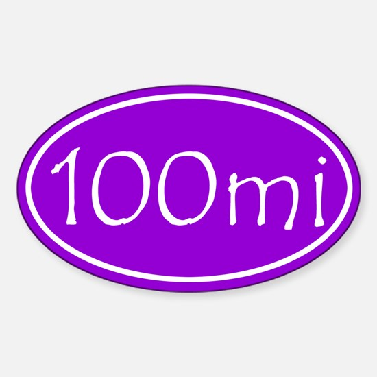 Purple 100 mi Oval Decal
