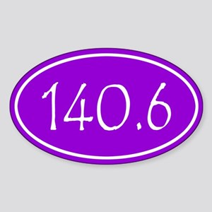Purple 140.6 Oval Sticker