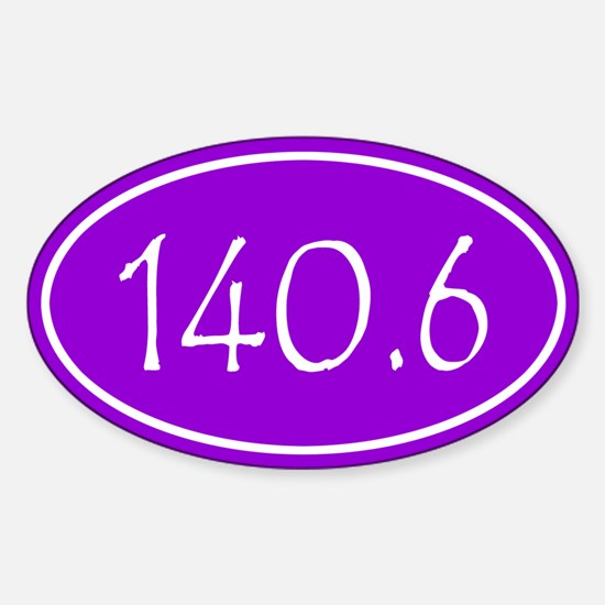 Purple 140.6 Oval Decal