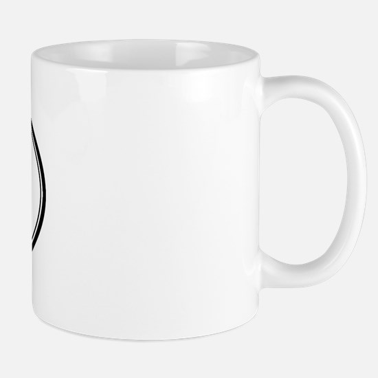Tre Oval Design Mug