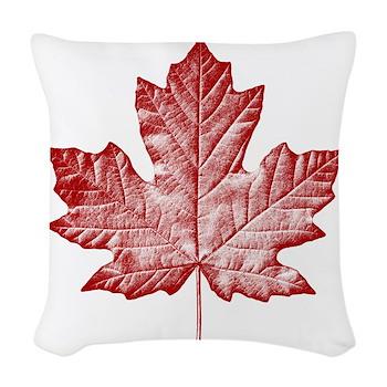 Canada Souvenir Pillow Vintage Canadian Maple Leaf