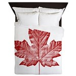 Canada Souvenir Vintage Maple Leaf Queen Duvet
