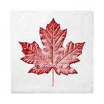 Canada Souvenir Vintage Maple Leaf Queen Duvet