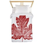 Canada Souvenir Vintage Maple Leaf Twin Duvet