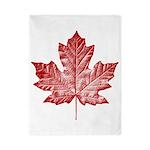 Canada Souvenir Vintage Maple Leaf Twin Duvet