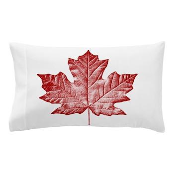 Canada Souvenir Pillow Case Canadian Maple Leaf