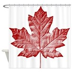 Canada Souvenir Canadian Maple Leaf Shower Curtain