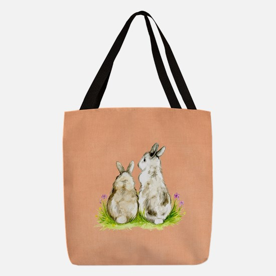 Unique Flower child Polyester Tote Bag