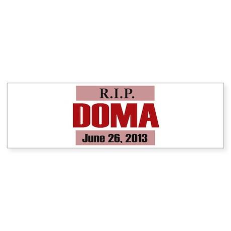 RIP DOMA Sticker (Bumper)