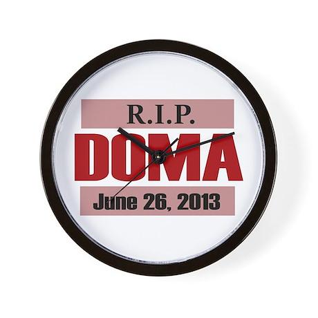 RIP DOMA Wall Clock