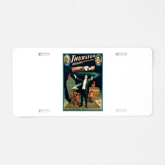 Thurston Magic Levitation Aluminum License Plate