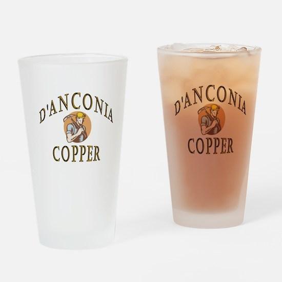d'Anconia Copper Retro Miner Drinking Glass