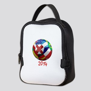 2014 Soccerball Neoprene Lunch Bag
