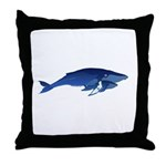 Humpback Whale Mom and Baby 2 Throw Pillow