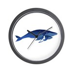 Humpback Whale Mom and Baby 2 Wall Clock