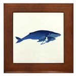 Humpback Whale Mom and Baby 2 Framed Tile