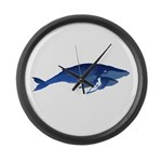 Humpback Whale Mom and Baby 2 Large Wall Clock