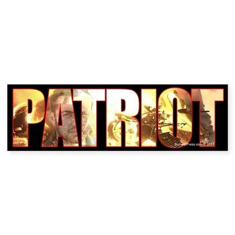 True Patriot Bumper Sticker
