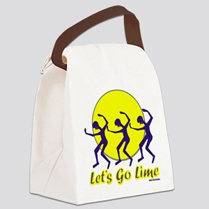 Lets Go Lime Canvas Lunch Bag