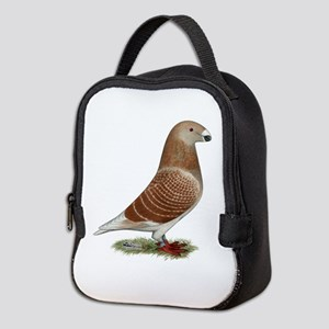 Show Racer Red Check Pigeon Neoprene Lunch Bag