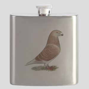 Show Racer Red Check Pigeon Flask