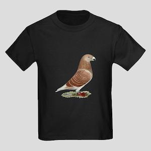 Show Racer Red Check Pigeon Kids Dark T-Shirt