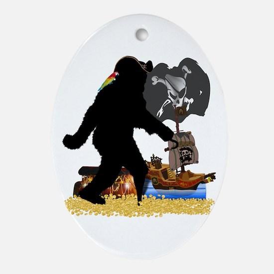 Gone Squatchin Fer Buried Treasure Ornament (Oval)