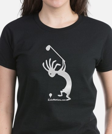 Kokopelli Golfer Women's Dark T-Shirt