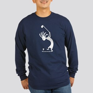 Kokopelli Golfer Long Sleeve Dark T-Shirt