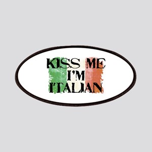 Kiss Me I'm Italian Flag Patches