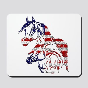 Patriotic Arabians Mousepad