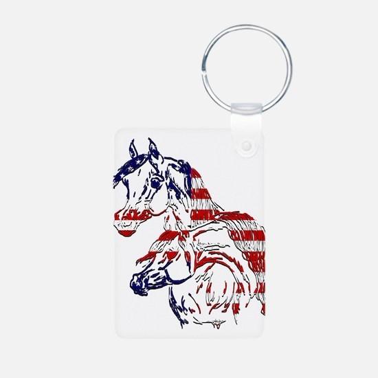 Patriotic Arabians Keychains