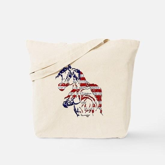 Patriotic Arabians Tote Bag