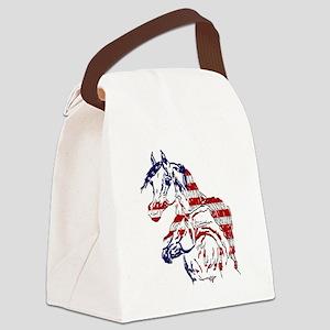 Patriotic Arabians Canvas Lunch Bag