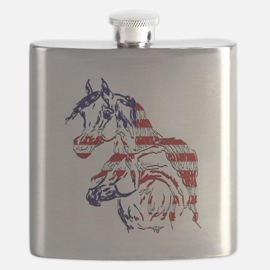 Patriotic Arabians Flask
