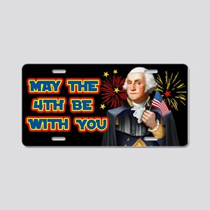May the4th Be With You Aluminum License Plate