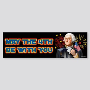 May the4th Be With You Sticker (Bumper)