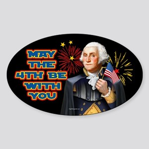 May the4th Be With You Sticker (Oval)
