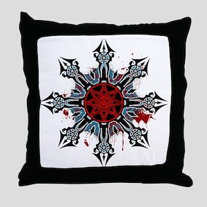 Cross of Chaos Throw Pillow