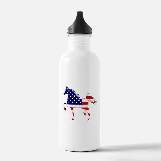 Patriotic American Gaited Horse Water Bottle